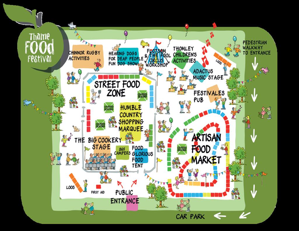 thame food festival map 2021